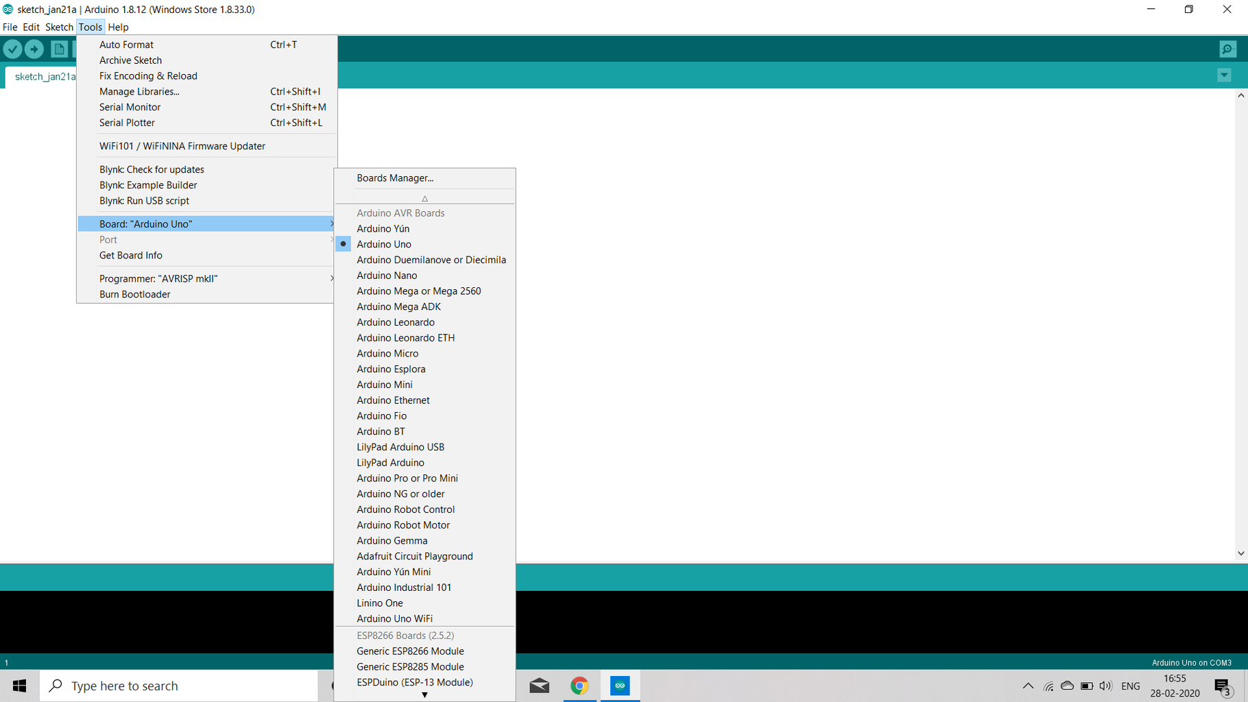 Installing the Board in Arduino Ide and the Blynk Library