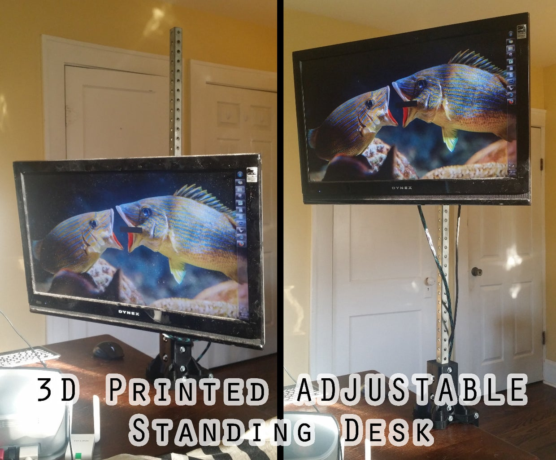 3D Printed Adjustable Standing Desk for Under $50