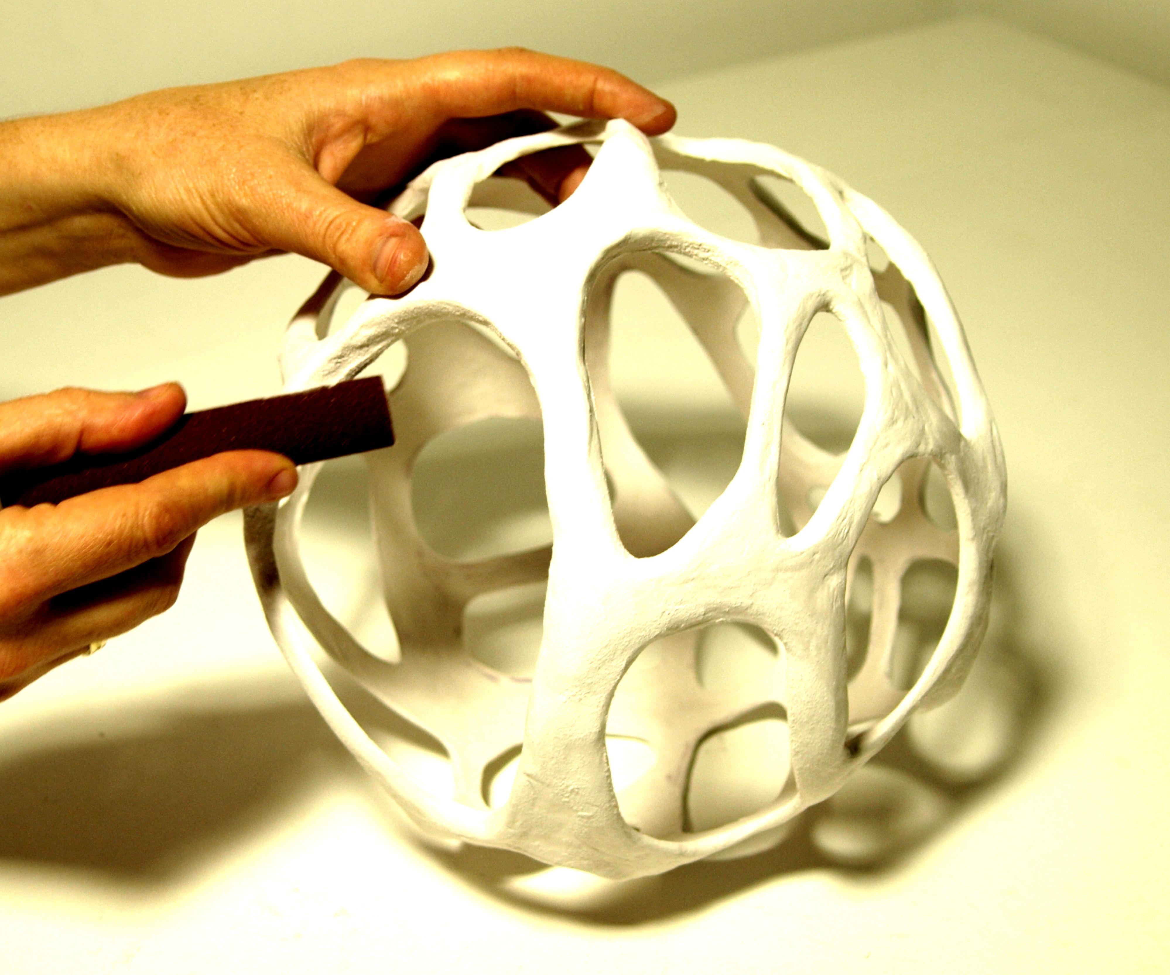DIY Cellular Organic Lampshade Without a 3D Printer