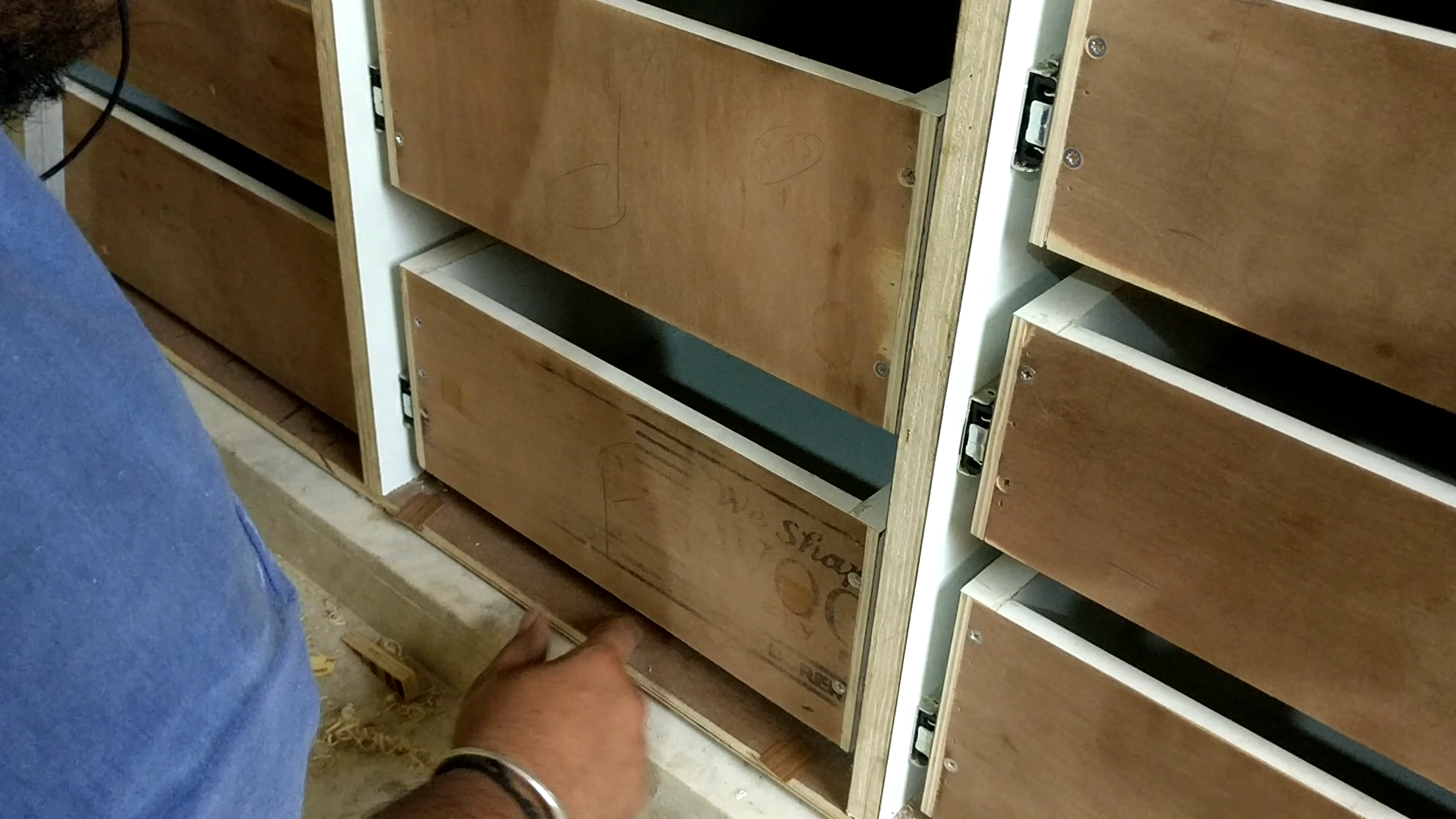 Installation of Drawer Fronts