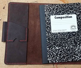 Hand Stitched Leather Notebook Cover