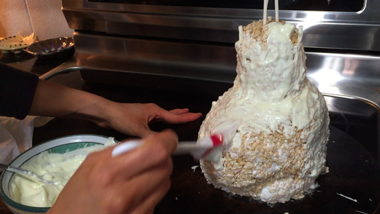 Coat the Bust in Melted White Chocolate, Then Allow the Bust to Set in the Fridge