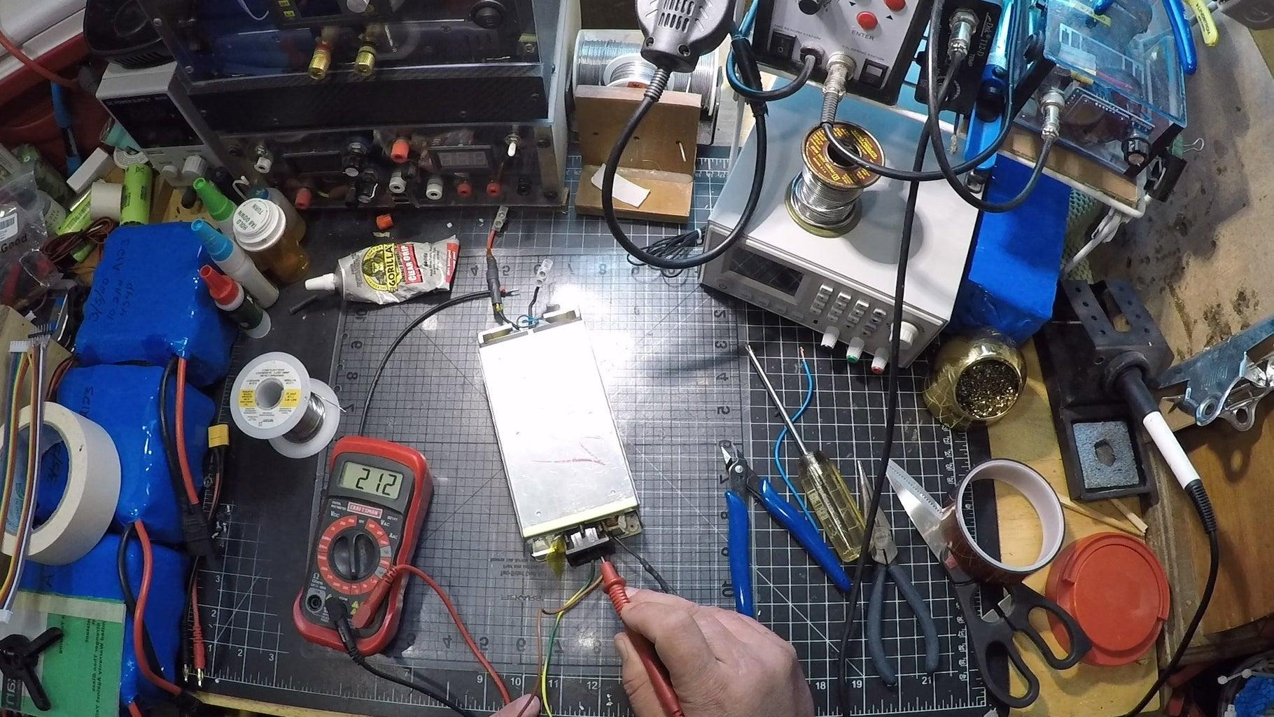 Finish PSU Adding Diode & AC Wires