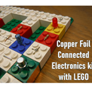 Copper Foil Connected Lego Block Circuit