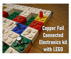 Copper Foil Connected Lego Block Circuit