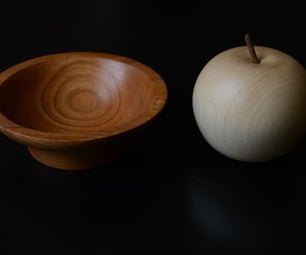Turned Bowl and Apple