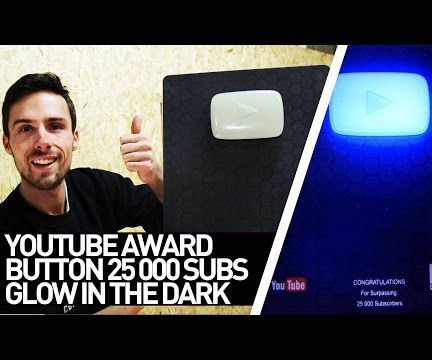 YouTube Button - Glow In The Dark (casting)