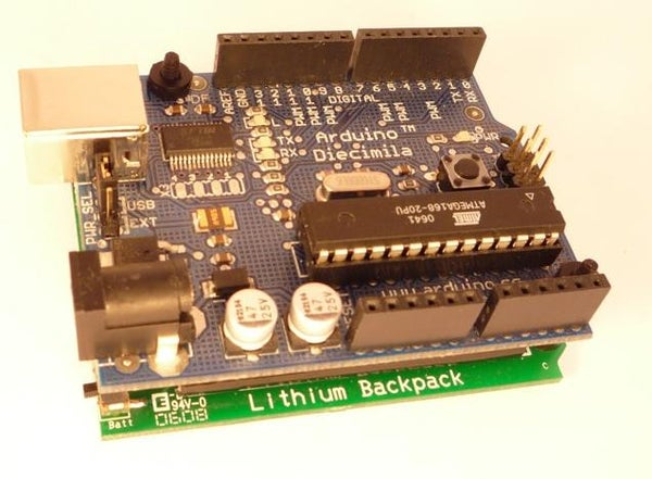 How to Install the Arduino to the Lithium Backpack