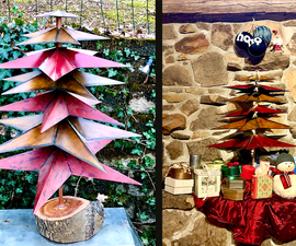 Kitty-proof Metal Star Christmas Tree