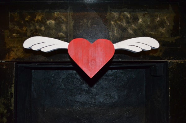 Flying Heart Kinetic Valentine