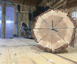 Segmented Oak Clock, From Firewood