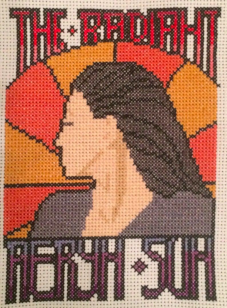 Farscape Cross Stitch: Art Nouveau Aeryn Sun