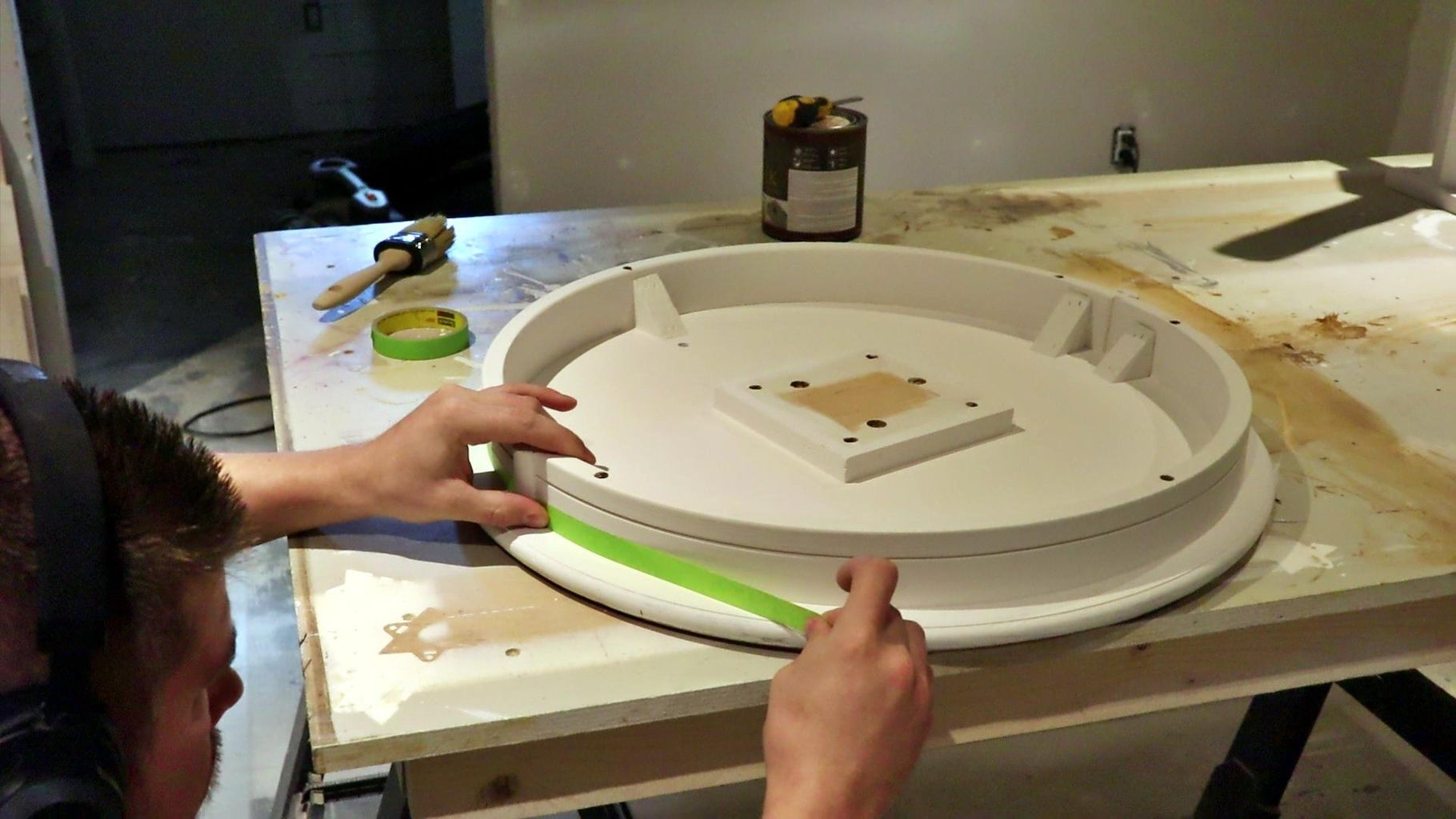 Masking & Painting a Top or Large Panel