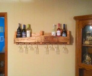 How to Pallet Wine Rack