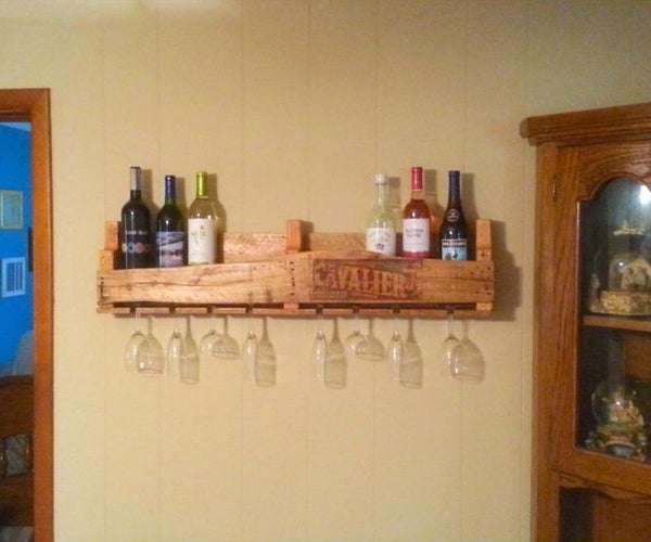 How to Pallet Wine Rack