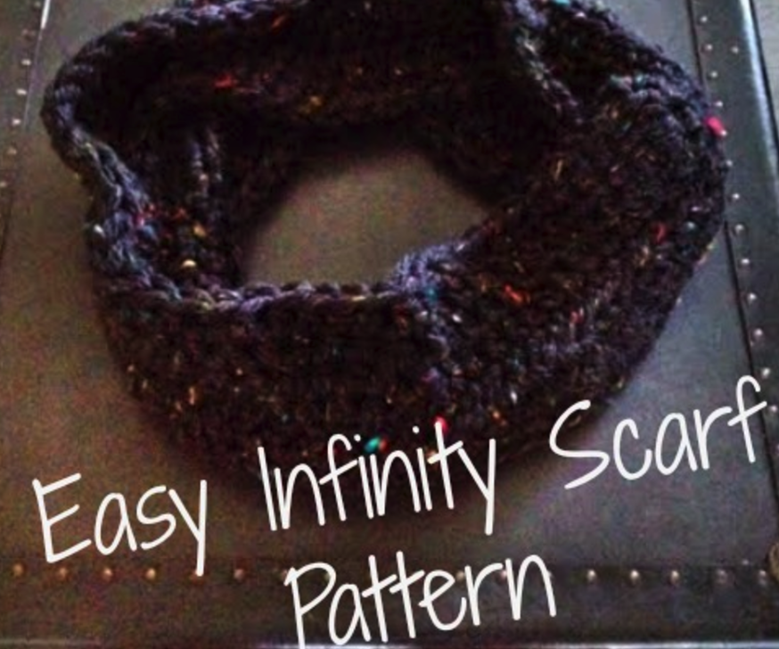 How-to Crochet Easy Infinity Scarf