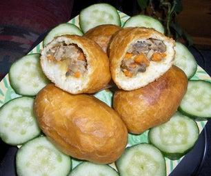 Mushrooms & Tuna Fried Bread