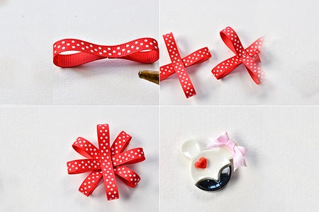 Make the First Part of the Ribbon Hair Clip
