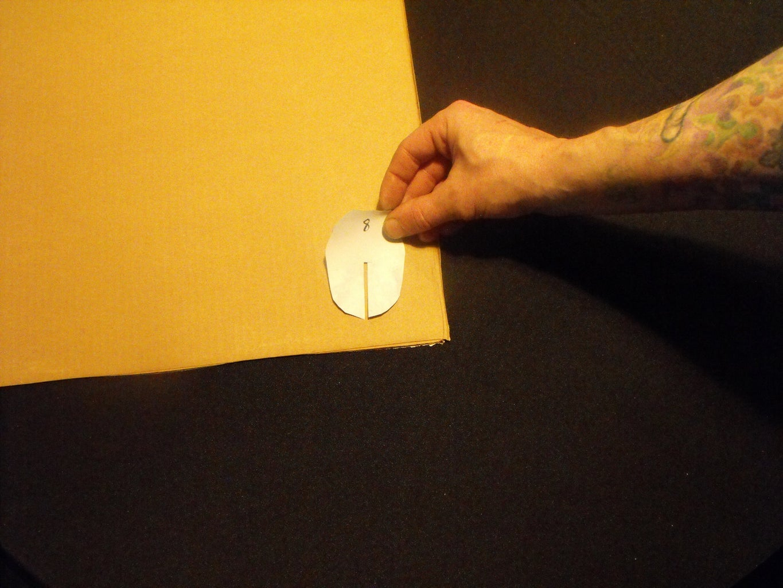 Transfer Template to Cardboard