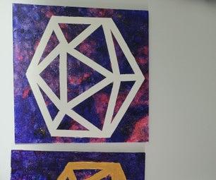 D20 Line Painting
