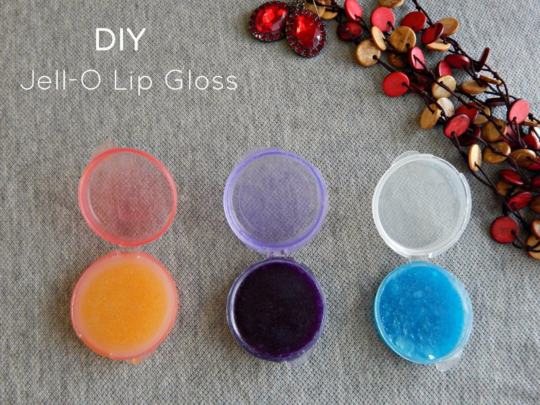 DIY Jell-O Lip Gloss