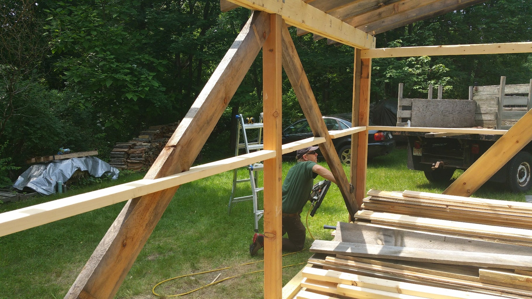 Cutting and Installing the Rafters