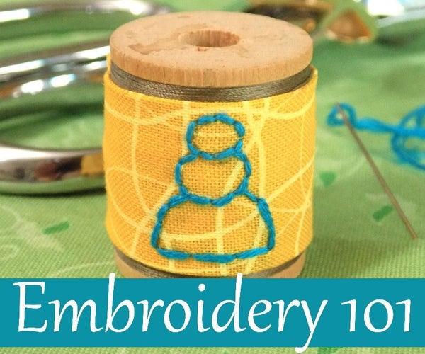 Embroidery 101: Back Stitch
