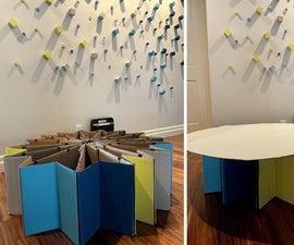Portable, Flexible Cardboard Box Furniture
