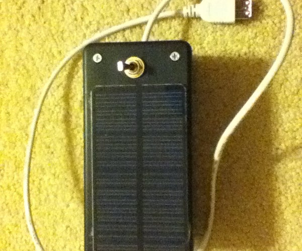 The Solar USB Charger!