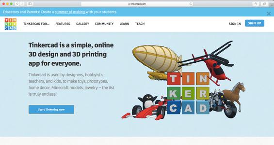 Access a 3-D Modeling Website
