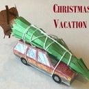 Christmas Vacation Papercraft Station Wagon