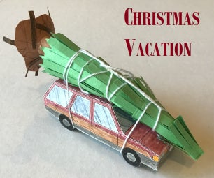 Christmas Vacation Papercraft Station Wagon