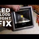LED Flood Light Repair | Replacing LED Chip and Driver