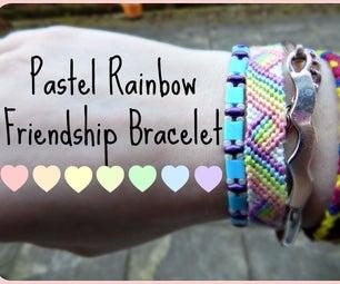 Pastel Rainbow Friendship Bracelet