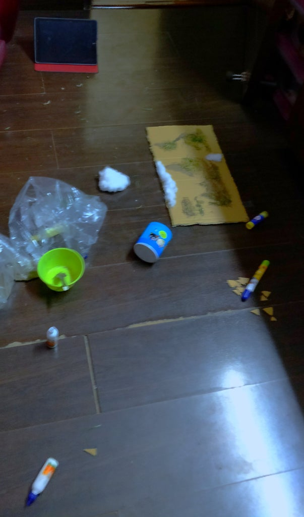 Glueing Up the Natural Things and Creating a Mess