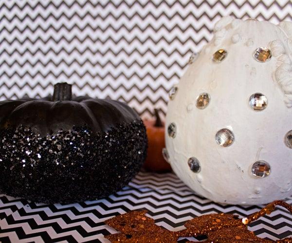 Glam Halloween Gourds