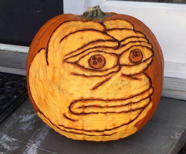 Pepe the Frog Pumpkin