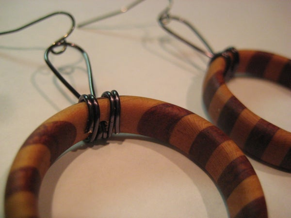 Layered Wood Earrings