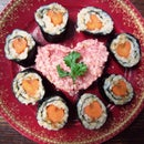 Valentine Sushi - a vegan sushi meal or bento addition.
