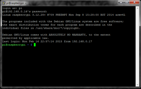 Login to Your Pi