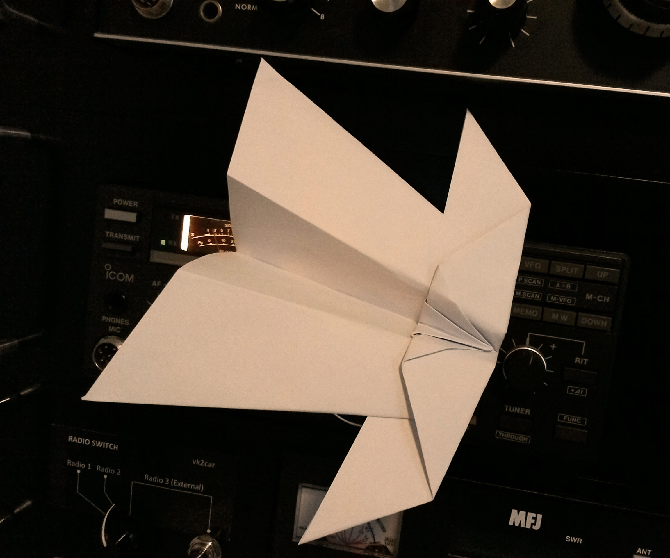 How to Fold the Original Ninja Looping Paper Airplane