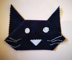 猫折纸与微纤维布