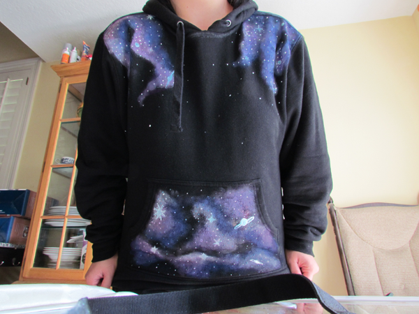 "DIY ""Galaxy"" Sweatshirts! or Anything You Want to ""SPACE-ify""!"