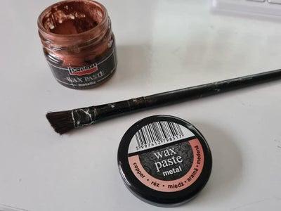 Add the Copper Metallic Wax Paste