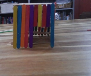 Easy Popsicle Stick House