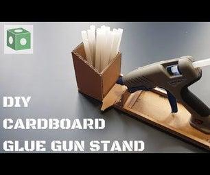 DIY Cardboard Glue Gun Stand