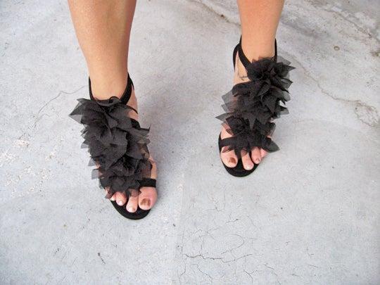 """DIY Christian Louboutin """"Petal"""" Sandals"""
