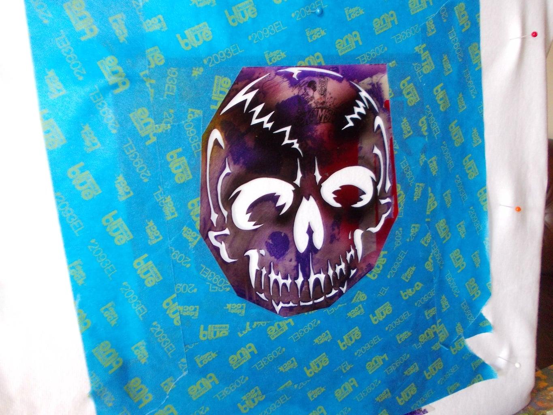 Pin Shirt to Canvas & Stencil to Shirt