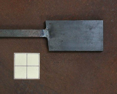 Starting Material for the Axe With a Welded Steel Handle