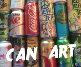 Simple Recycled Can Art